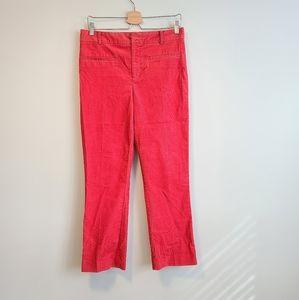 ANTHROPOLOGIE High Rise Straight Corduroy Pants 6